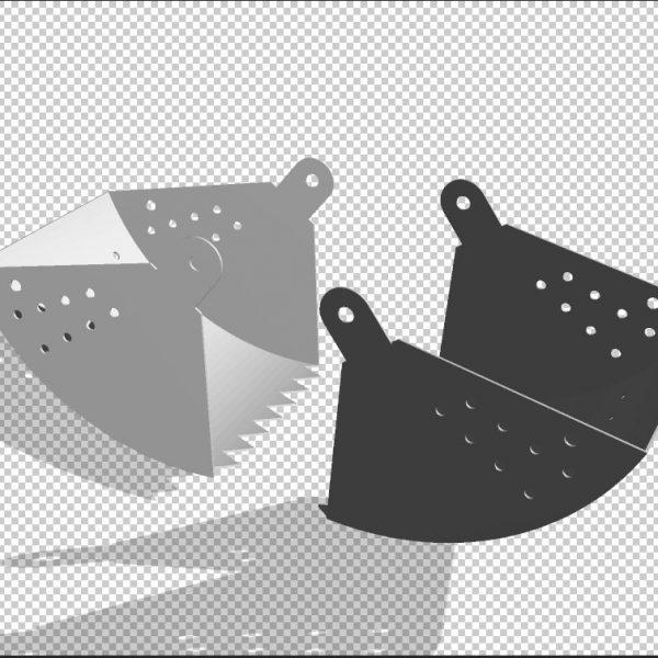 3D Чертеж ручного грейфера
