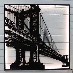 "Картина с подсветкой ""Бруклинский мост"""