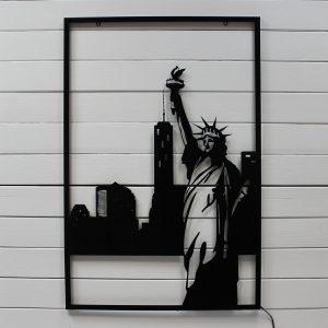 """Картина с подсветкой """"Статуя свободы"""""""