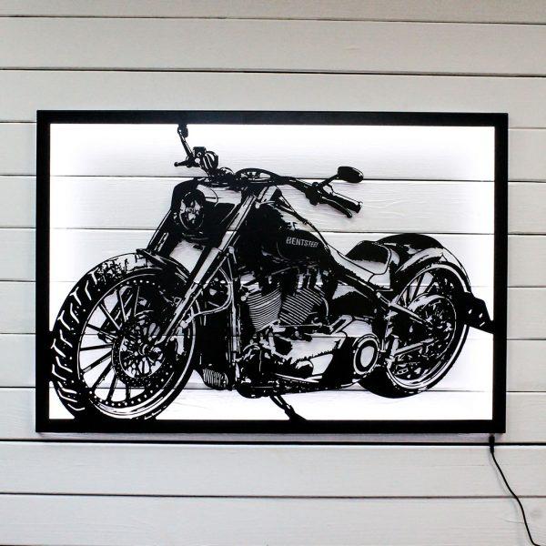 Картина мотоцикл